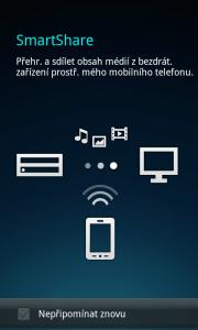 SmartShare pro sdílení obsahu přes DLNA