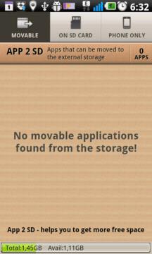 APP 2 SD: momentálně nemáme žádný program, který bychom mohli přesunout na SD kartu