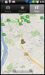 Přehled dopravní situace na mapě