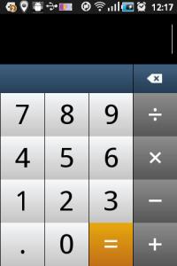 Kalkulačka je jen minimálně upravená