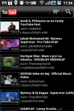 Nechybí přehrávač videí z Youtube