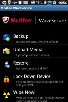 Prostředí aplikace WaveSecure