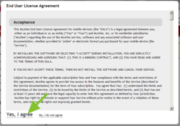 Licenční ujednání na webu