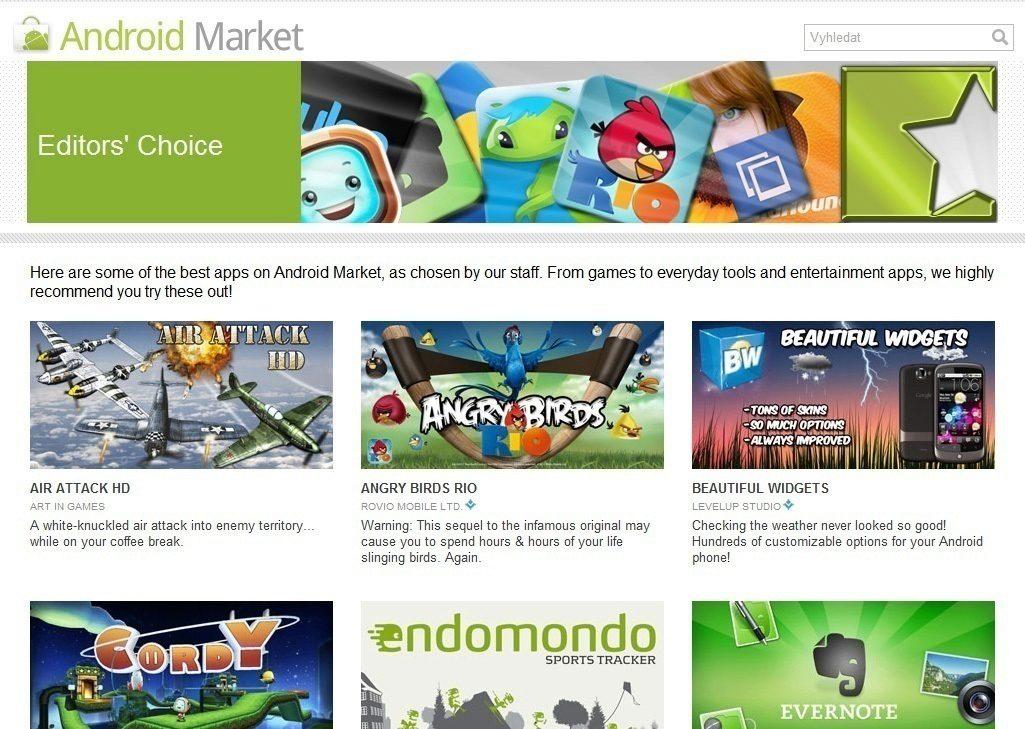 android market doporučuje