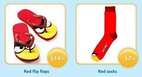 Angry Birds – ponožky v sandálech ;)