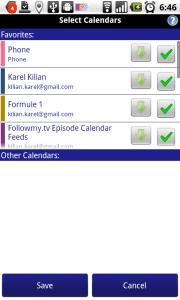 Nastavení kalendářů