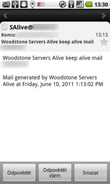 Otevřená zpráva v aplikaci E-Mail