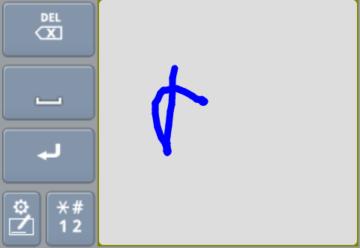 Klávesnice Huawei IME psaní rukou