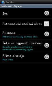 Optimus Black dovoluje změnu systémového fontu