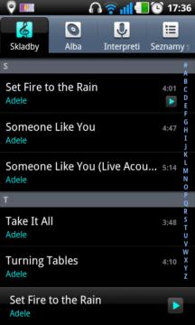 Díky aplikaci Hudba budete mít přehled ve své sbírce