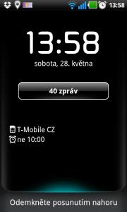 Odemykací obrazovka LG Optimus Black