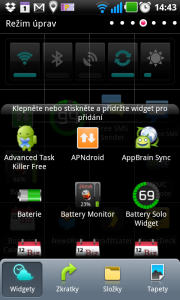 Netradiční způsob přidávání widgetů na plochu