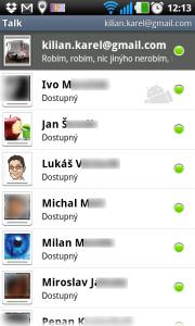 Textový chat GTalk
