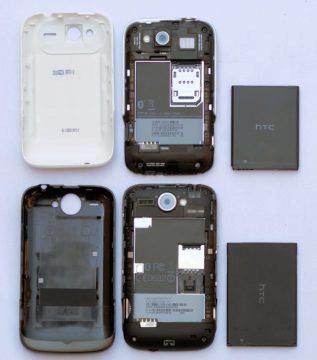 HTC Wildfire S je o něco lehčí