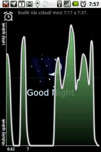 Telefon monitoruje pohyb během spánku