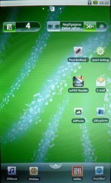 Creative Ziio - Hlavní obrazovka