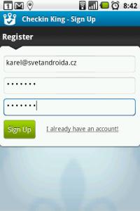 K registraci budete potřebovat e-mail a heslo