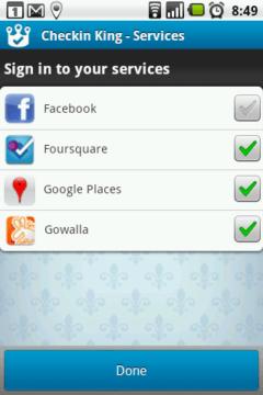 Vybírat můžete ze čtyř geolokačních služeb
