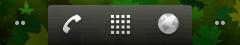Dolní lišta s tlačítky pro přesun mezi obrazovkami