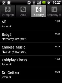 Aplikace Hudba