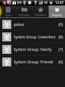Vodafone 858 si poradí se skupinami