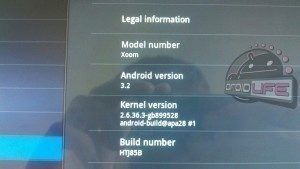 Android 3.2 na Motorole XOOM