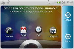 Změna ikon na odemykací obrazovce