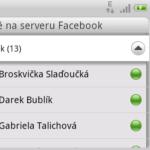 Facebook chat - aplikace
