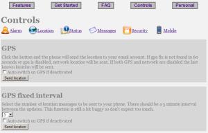 Stiskem tlačítka Send location vyvoláte požadavek na lokalizaci.