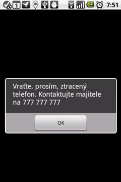 Můžete poslat na displej telefonu jakoukoli textovou zprávu.