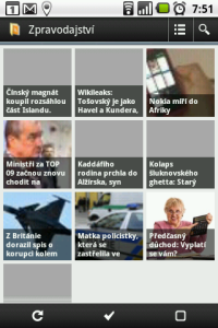 Seznam článků v podobě dlaždic s obrázkem a titulkem