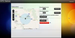 HTC sense webová služba