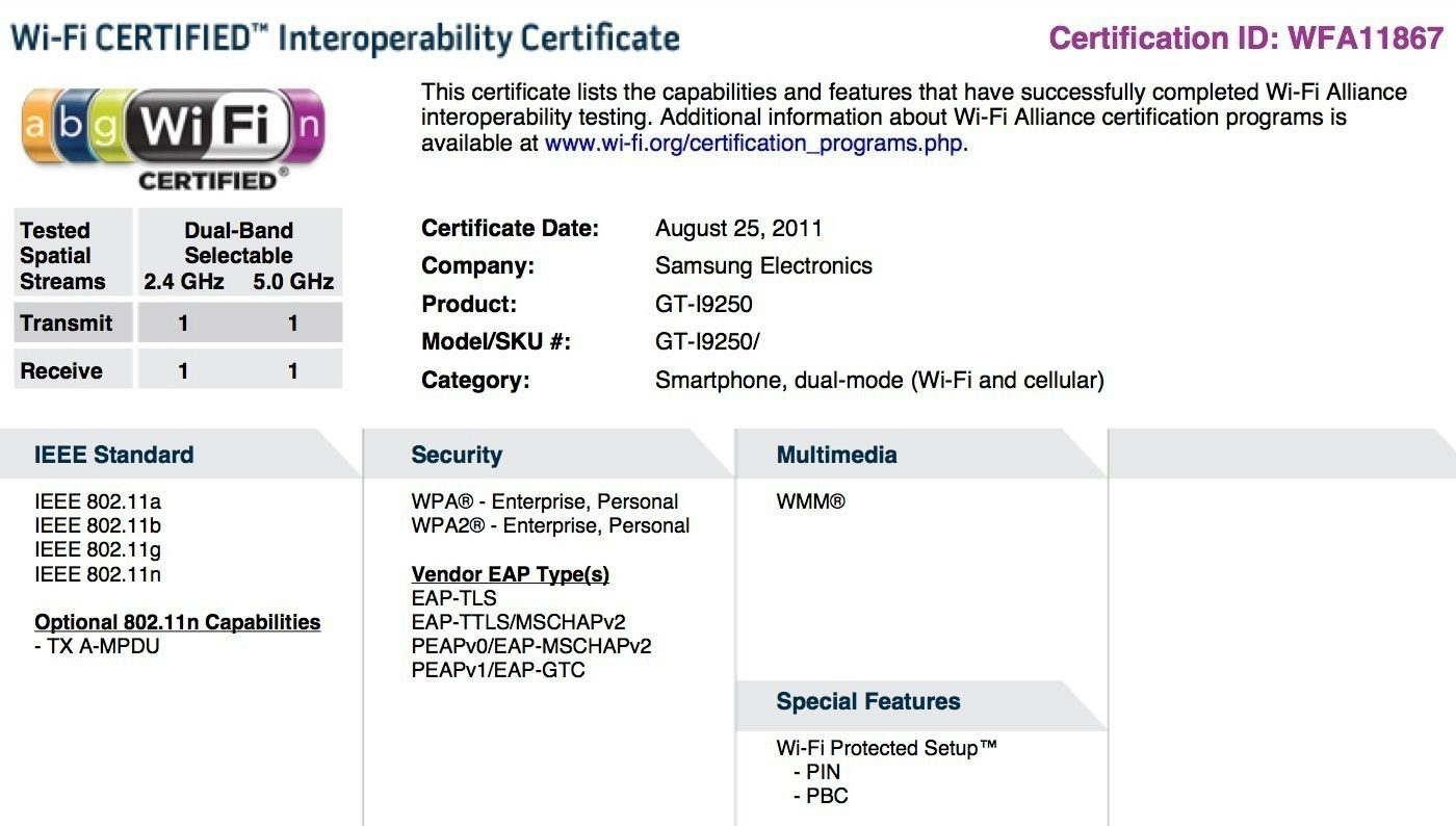 nexus-prime-wifi-certification