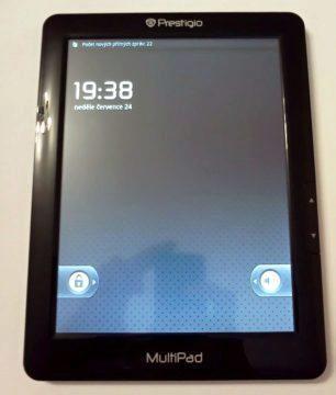 Přední strana tabletu Prestigio MultiPad 8,4