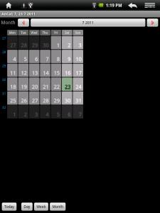 Měsíční pohled do kalendáře
