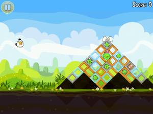 Hra Angry Birds Seasons byla prakticky nehratelná, navíc se z ní kvůli chybějící liště nedalo vyskočit