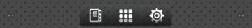 Dolní lišta obsahuje zástupce čtečky knih, přístup k aplikacím a nastavení