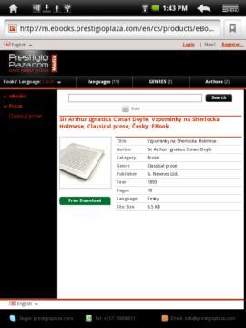 Další knížky můžete získat na serveru PrestigioPlaza