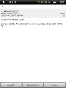Aplikace E-Mail si poradí s více poštovními účty