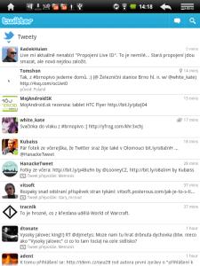 Výchozí aplikace pro sociální síť Twitter