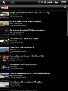 Aplikace pro přehrávání videí z portálu Youtube