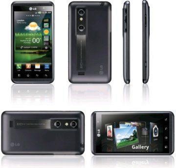 Současný model LG P920 Optimus 3D