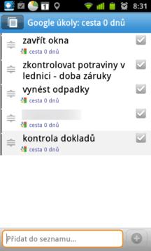 Astrid Úkol/Todo Seznam