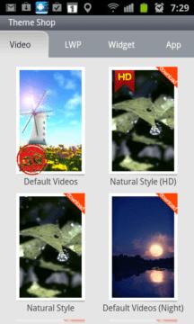 Jestliže se vám nelíbí výchozí animace, lze z Android Marketu doinstalovat další témata