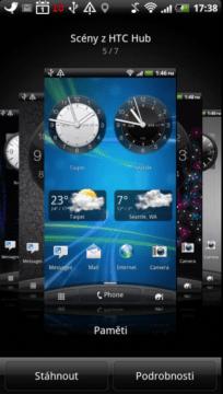 Nabídka scén HTC Hub