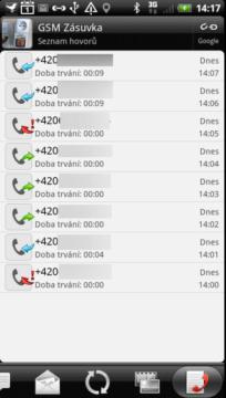 Proběhlé i neproběhlé hovory s daným kontaktem