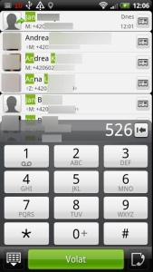 Číselník slouží k vyhledávání podobným stylem, jako na telefonech s běžnou hardwarovou klávesnicí