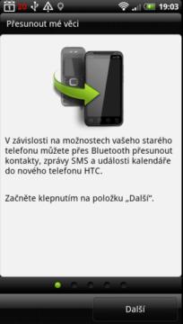 Přenést se postará o přenos dat ze starého telefonu