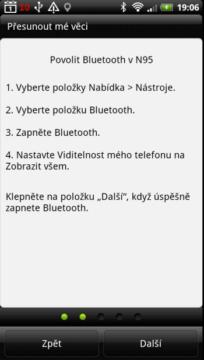 Přenos dat probíhá přes Bluetooth