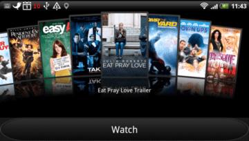 HTC Watch slouží, kromě jiného, k přehrávání upoutávek k filmům